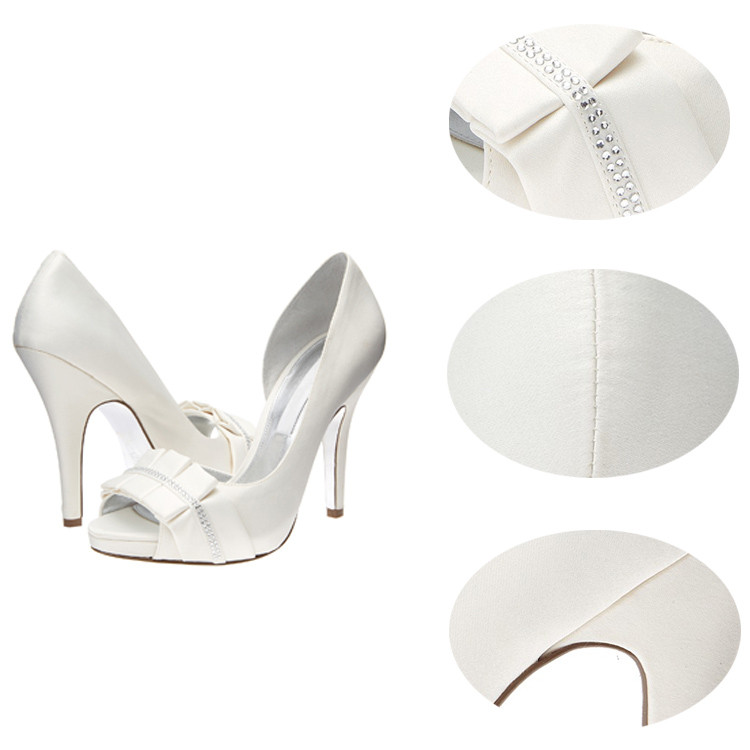 high heel bridal E-feet evening shoe