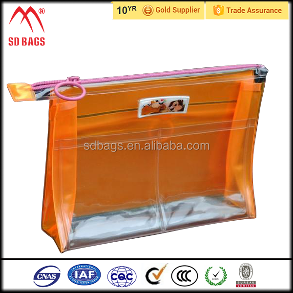 China top ten selling products pvc clear bag with zipper