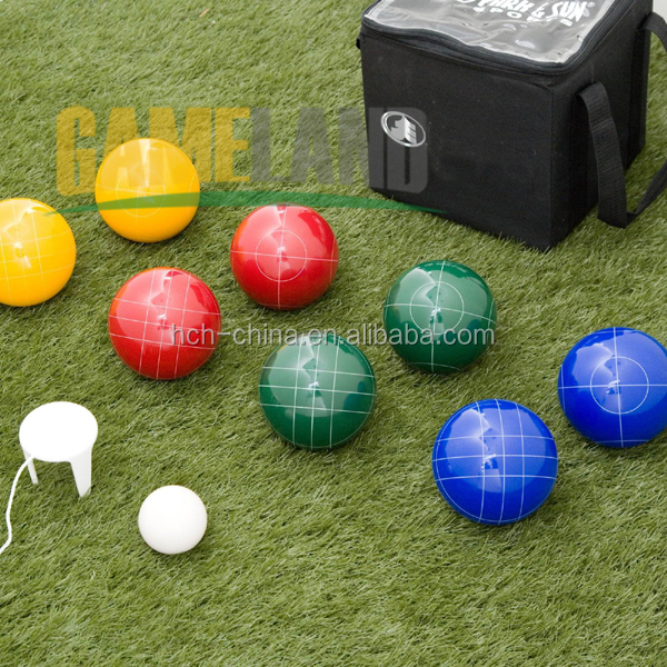 Full Size Premium Customized Vintage Bocce Set with Easy Carry