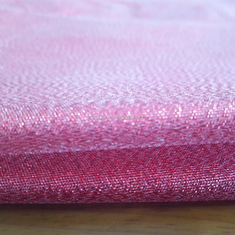 shimmer fabric with silver metallic thread, holiday bag and gift wrap fabric