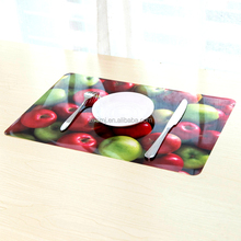 FDA Standard uv printing pp plastic dining table fruits placemat Custom 3D PP Placemats Table PP Mats For Kids