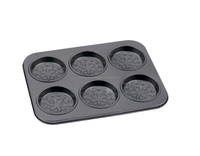 FDA, LFGB Approved Carbon Steel Non-stick Cake Pans of Muffin Pan with 6 Cups