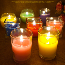 Aroma Small Cup Wax Making Romantic Wedding Restaurant SPA Club Windproof Smokeless Glass Candle