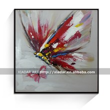 modern red butterfly handmade oil painting on canvas