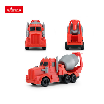 Rastar durable material magnetic construction building set toy with concrete mixer model