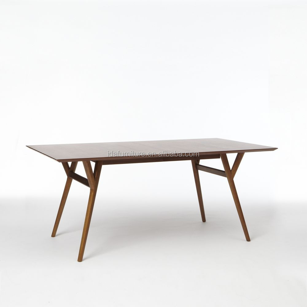 Customize Wooden Mid-Century Expandable Dining Table