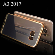 Mobile Accessories Electroplating TPU Back Cover Case For Samsung galaxy a3 2017 a320 case