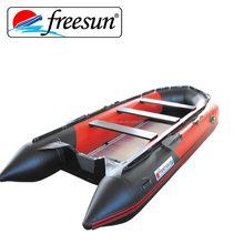 CE certification 400cm PVC pontoon inflatable motor boat