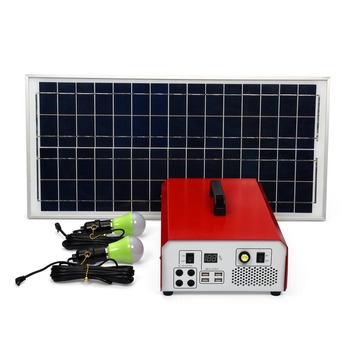 AC DC power supply solar generator 40ah lithium battery with 40w solar panel and 500w inverter