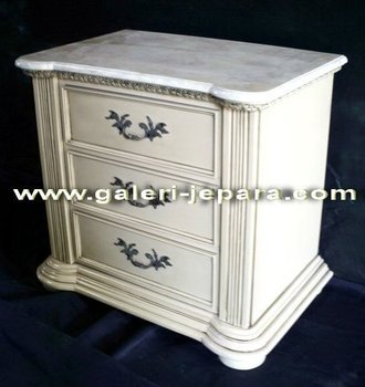 Antique Bedside Drawers - Wooden Nightstand for Home Furniture