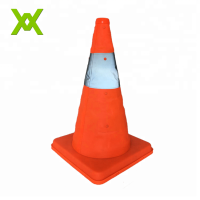 WX Orange Collapsible high light plastic road traffic safety reflective pvc traffic cone