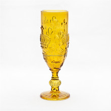 Wholesale popular tableware low price glass champagne flutes/amber cristal champagne flute