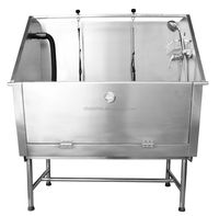 50 Inch 14 gauge stainless steel dog bath tub H-105 for groomer shop and homeuse
