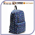 Cute Printed Foldable School Bag Polyester School Back Pack