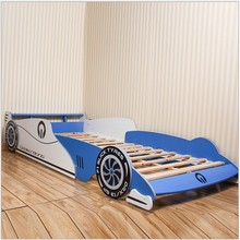 Fantastic Blue Children Car Bed, 190*90CM Mattress Wooden Kid Car Bed With High Quality
