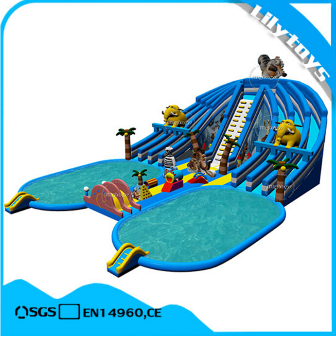 2017 new design inflatable land park supply,water park for hot sale