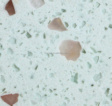 Anti-scratch strong quartz stone with customized patterns for countertop/ground/wall/stair