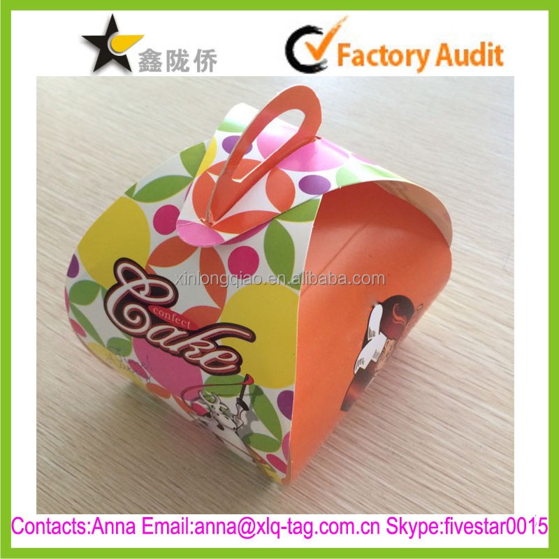 2015 Packing cake useful accept custom fancy cardboard boxes