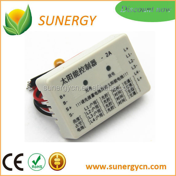 Cheap Electronic Solar street lighting controller 4 output loads