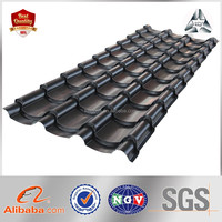 Plain Roof Tiles Type Color Steel Plate Material Galvanized/Zinc-Aluminum Roofing Sheet GI Corrugated Steel Plate