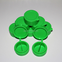 Green color 10ml silicone storage container silicone dab wax oil container collapsible silicone food containers