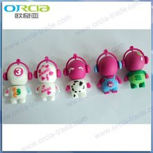 many kinds of cartoon character mini usb flash drive 32MB to 64GB