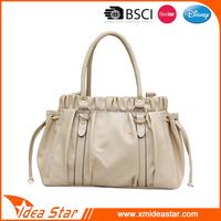 China customized durable pu tote handbag