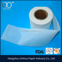 White or natural roll (300mm-430mm) food grade tea bag filter paper in roll