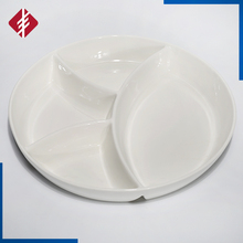 Round ceramic serving tray/ceramic divided plates