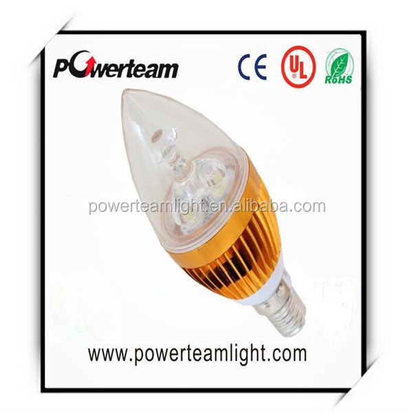 3w 4w 5w small led candle light E14/E27/B22 base 2700K - 6400k, >100lm/w, 3 year warranty