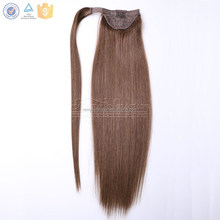 Human hair fast install false ponytail with clilp