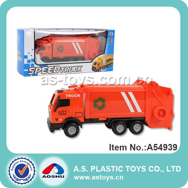 Diecast model sanitation truck toy