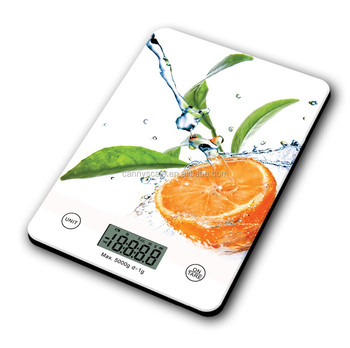 simple slim line digital glass kitchen weighing scale 1g-5kg