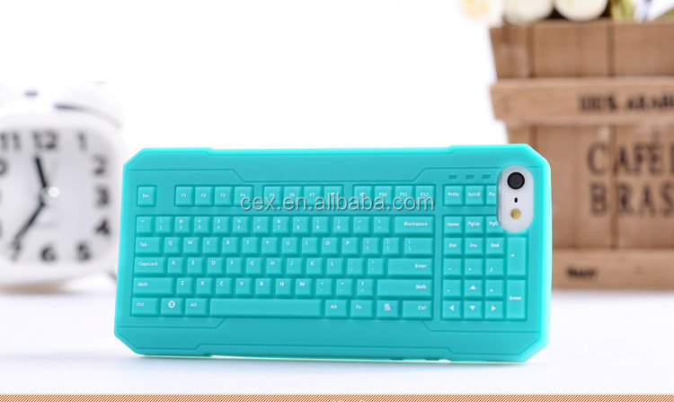 High Quality Soft Silicone Case with Special Keyboard Design For Apple iPhone 5 5s