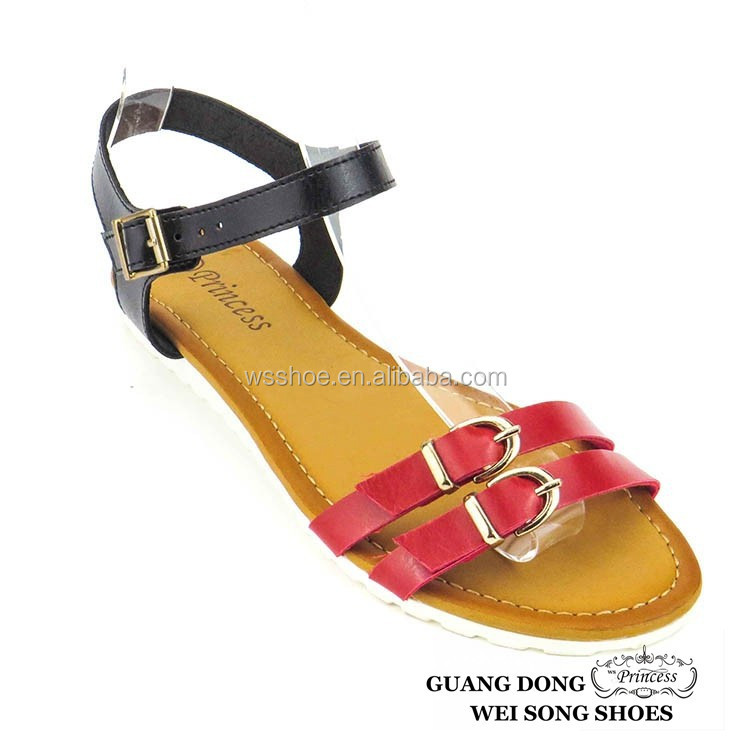 relax style open toe buckles new stylish sandals for girl women shoes fashion sandal 2014