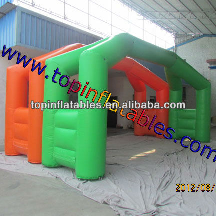 Racing event inflatable arch finish and begin arch inflatable entrance arch