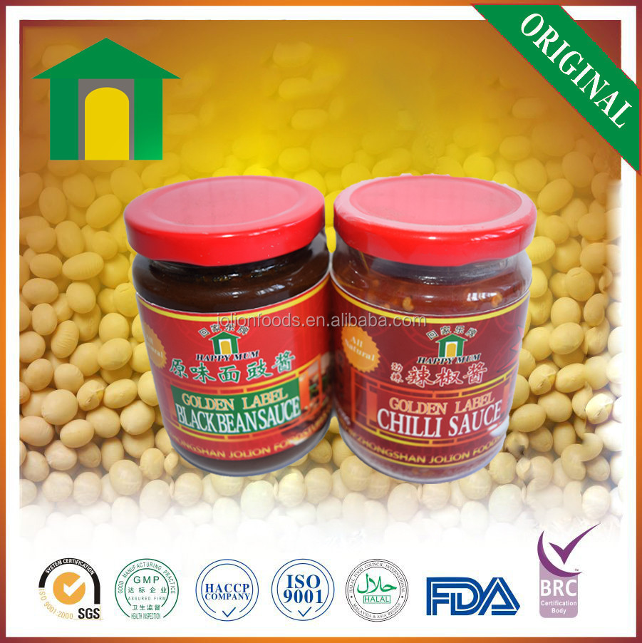 Chinese Halal BRC HACCP Black Bean Hot Chili Sauce Brand factory