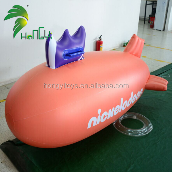 Advertising Inflatable Flying Zepplin Balloon , Inflatable Helium Floating Blimp Balloon