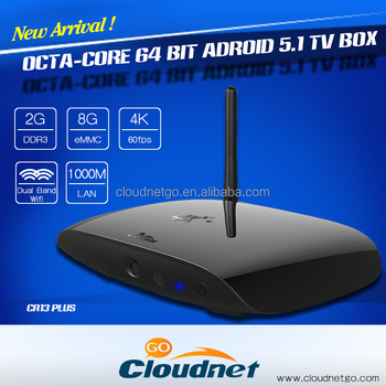 Cloudnetgo CR13 plus android tv 5.1 Smart stream tv box rk3368 64bit 2G ROM 8G RAM octa core andriod tv box