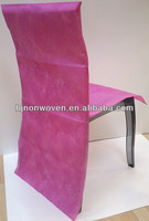Attractive non-woven chair cover and chair bow for hotel decoration and wedding decoration/non woven slipcover for hotel chair.