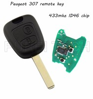 car peugeot 307 remote control key with electronic board and chip 433mhz ID46 chip