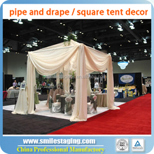event wedding aluminum backdrop stand pipe drape stage decoration