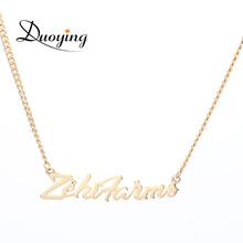 Custom Name Gold Cuba Chain Personalized Trendy Necklaces Mans Boys Necklace Cutting Pendant Necklaces