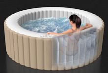 Newest product Bubble Therapy 4 Person Portable Inflatable Hot Tub,Intex Spa