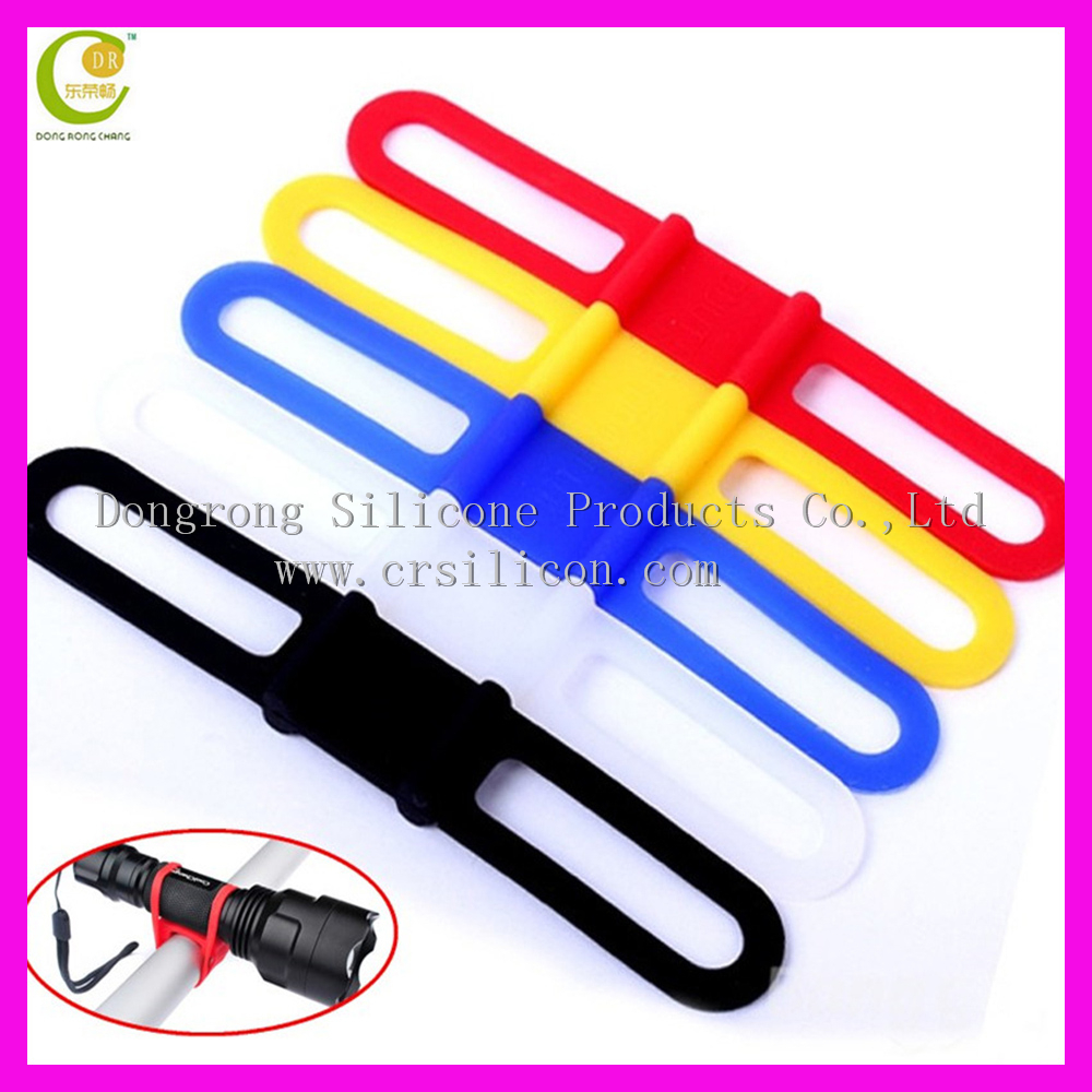 Universal bicycle simple cheap factory price many colors stock silicone bicycle led holder