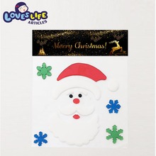 Lovely colorful Santa Claus Christmas static cling sticker