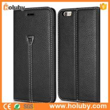 High Quality Lichee Pattern Wallet Case for iPhone 6 Plus 6S Plus, for iPhone6 Plus Phone Case Leather