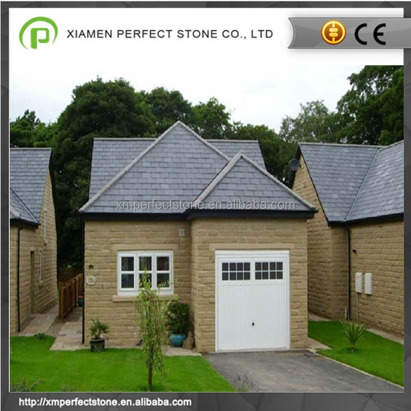 Modern flat black slate roof tiles coverings with wholesale