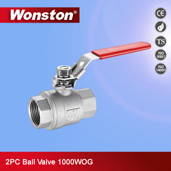2pc 1000wog npt threaded ball valve