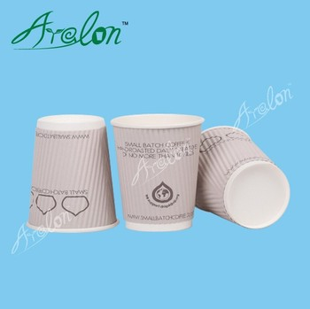Double wall coffee and tea paper cup with lids
